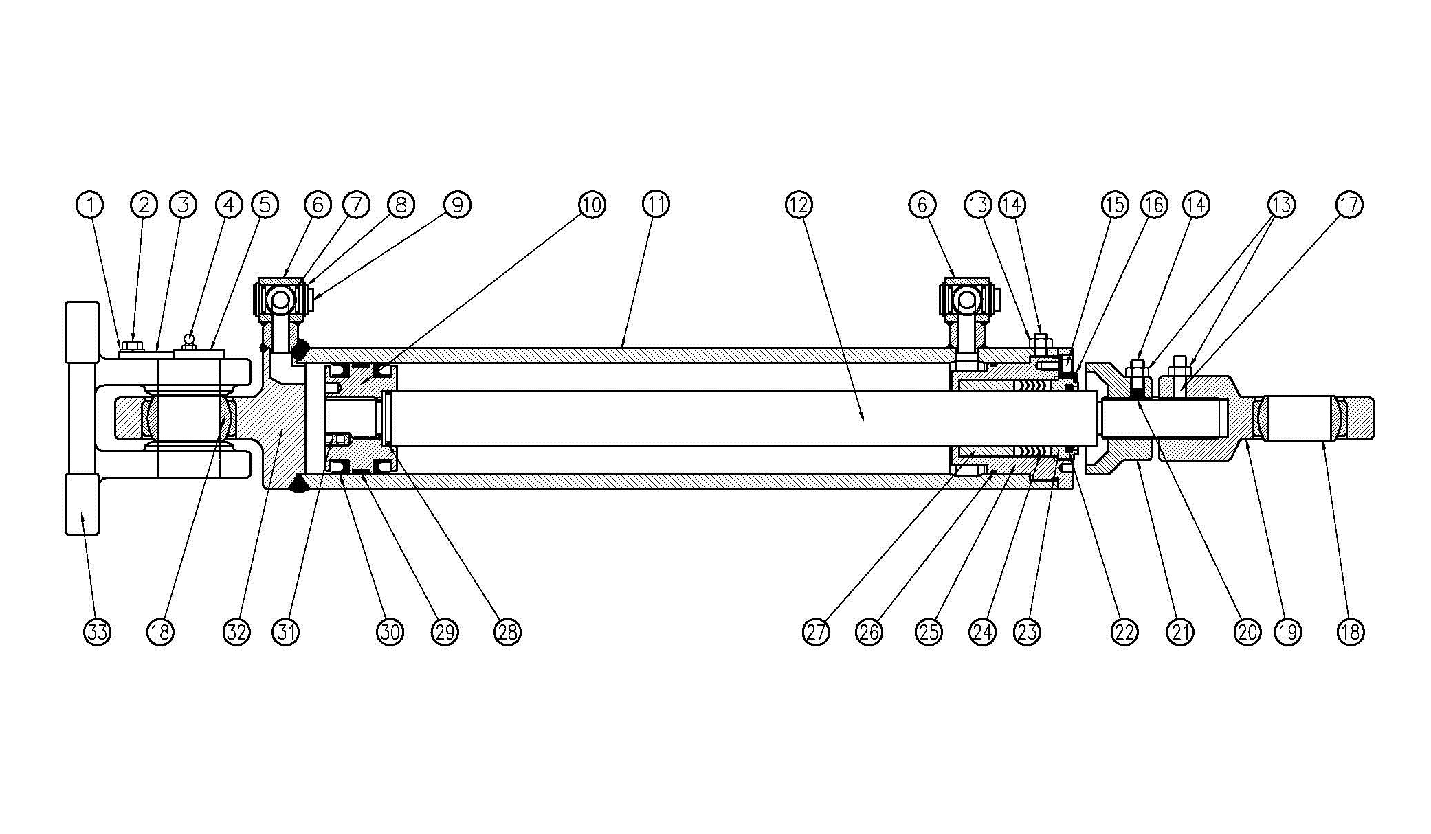 Model L80 Hydraulic Cylinder Assembly Diagram