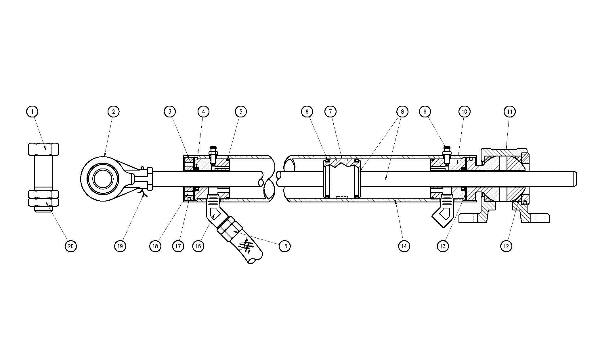 Type N50 Hydraulic Cylinder Assembly Diagram