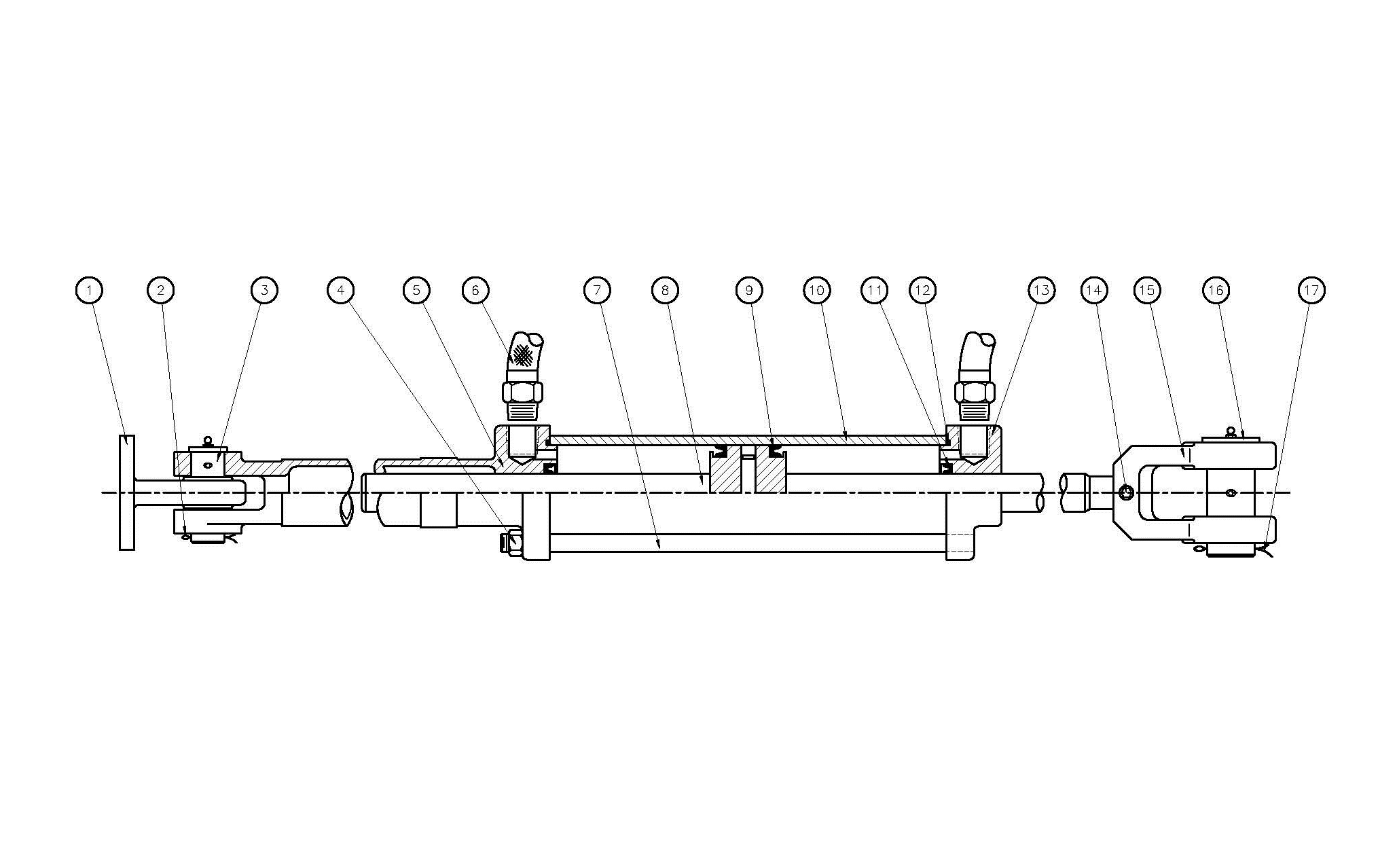 Type N65 N85 N175 N250 N350 N400 Hydraulic Cylinder Assembly Diagram