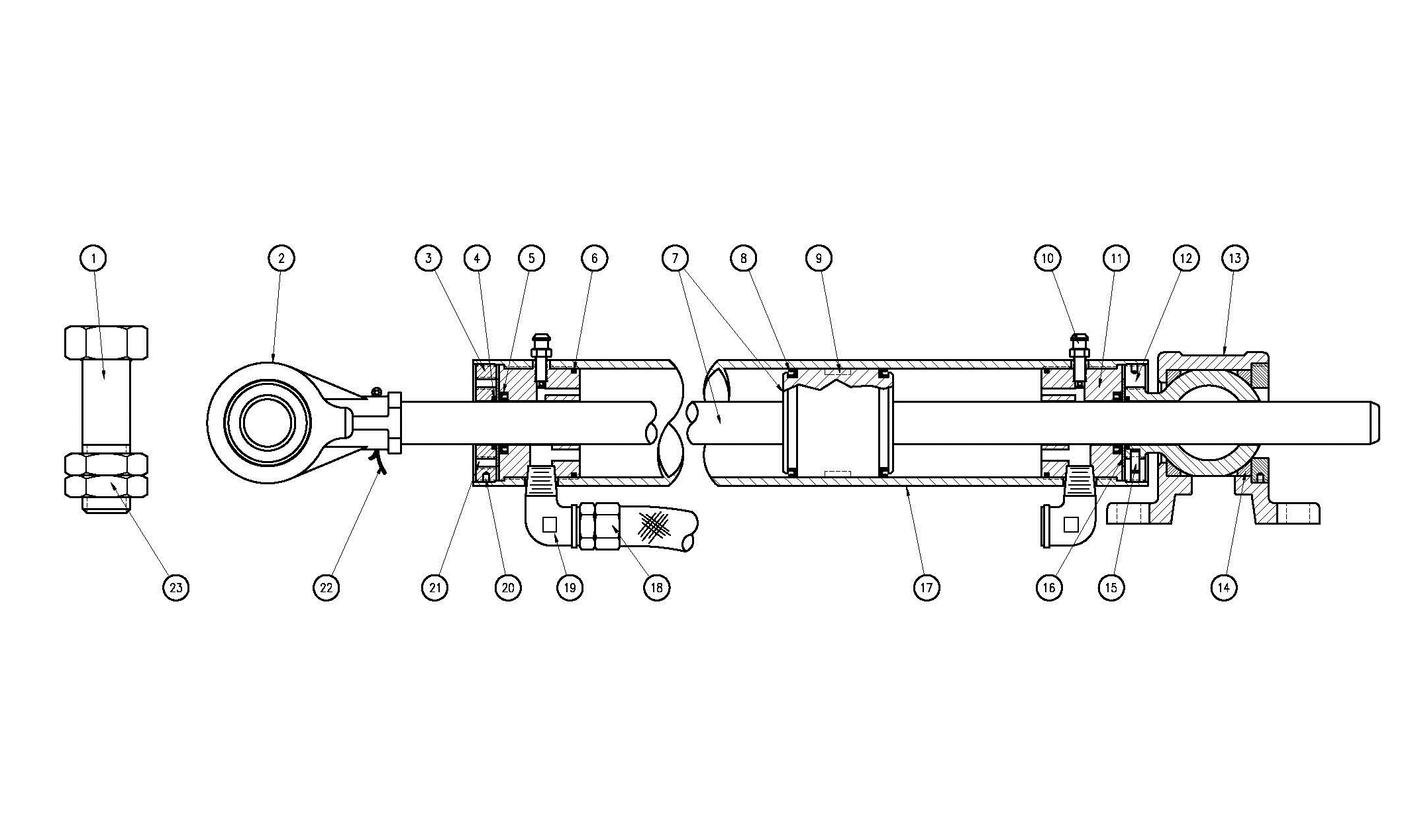 Type N80 Hydraulic Cylinder Assembly Diagram