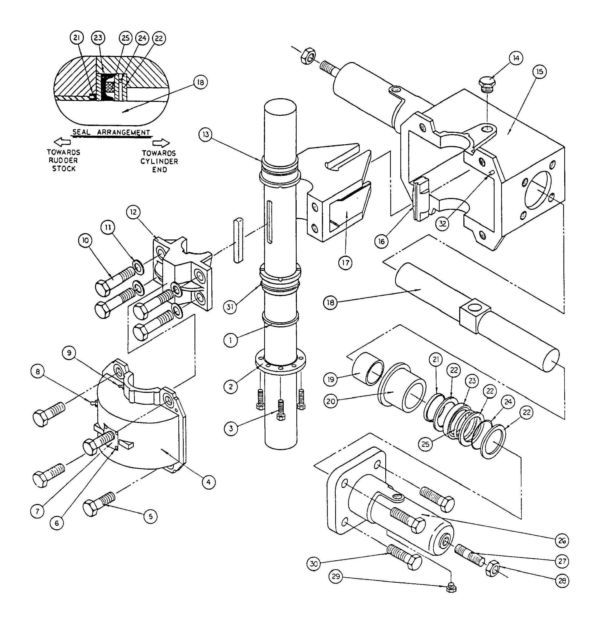 Model T10 and T11 Actuator Assembly Diagram