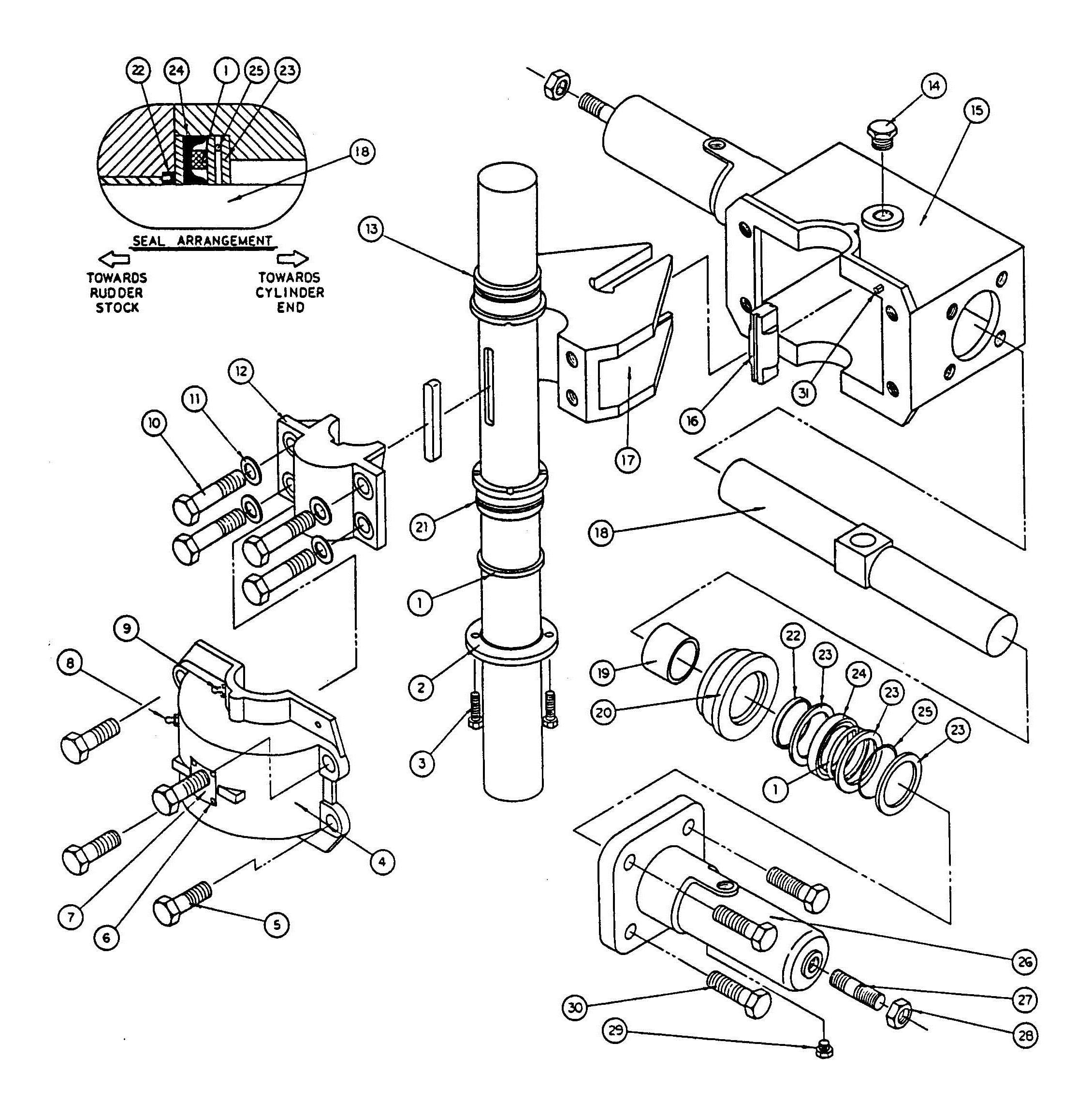 Model T2 Actuator Assembly Diagram