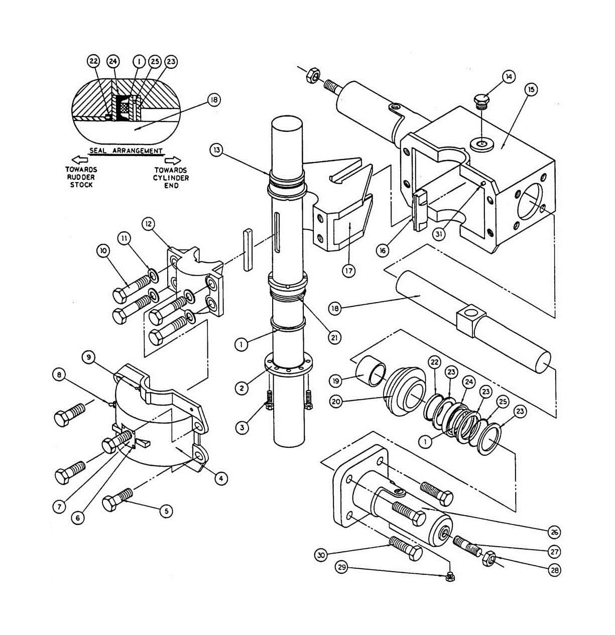 Model T3 Actuator Assembly Diagram