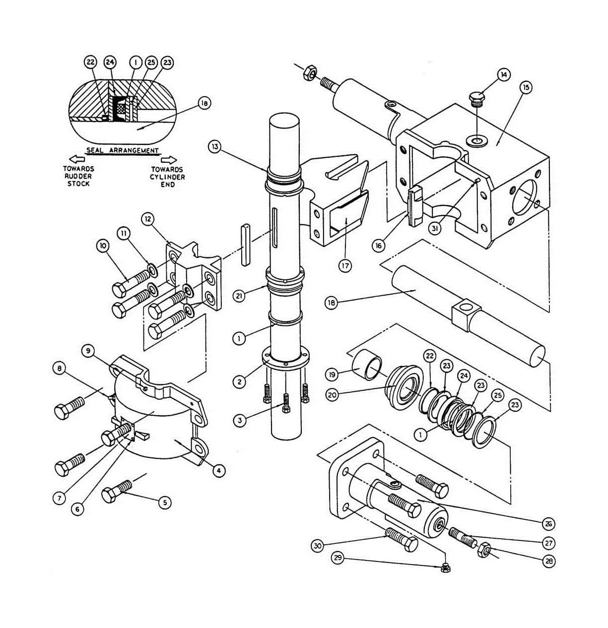 Model T4 Actuator Assembly Diagram