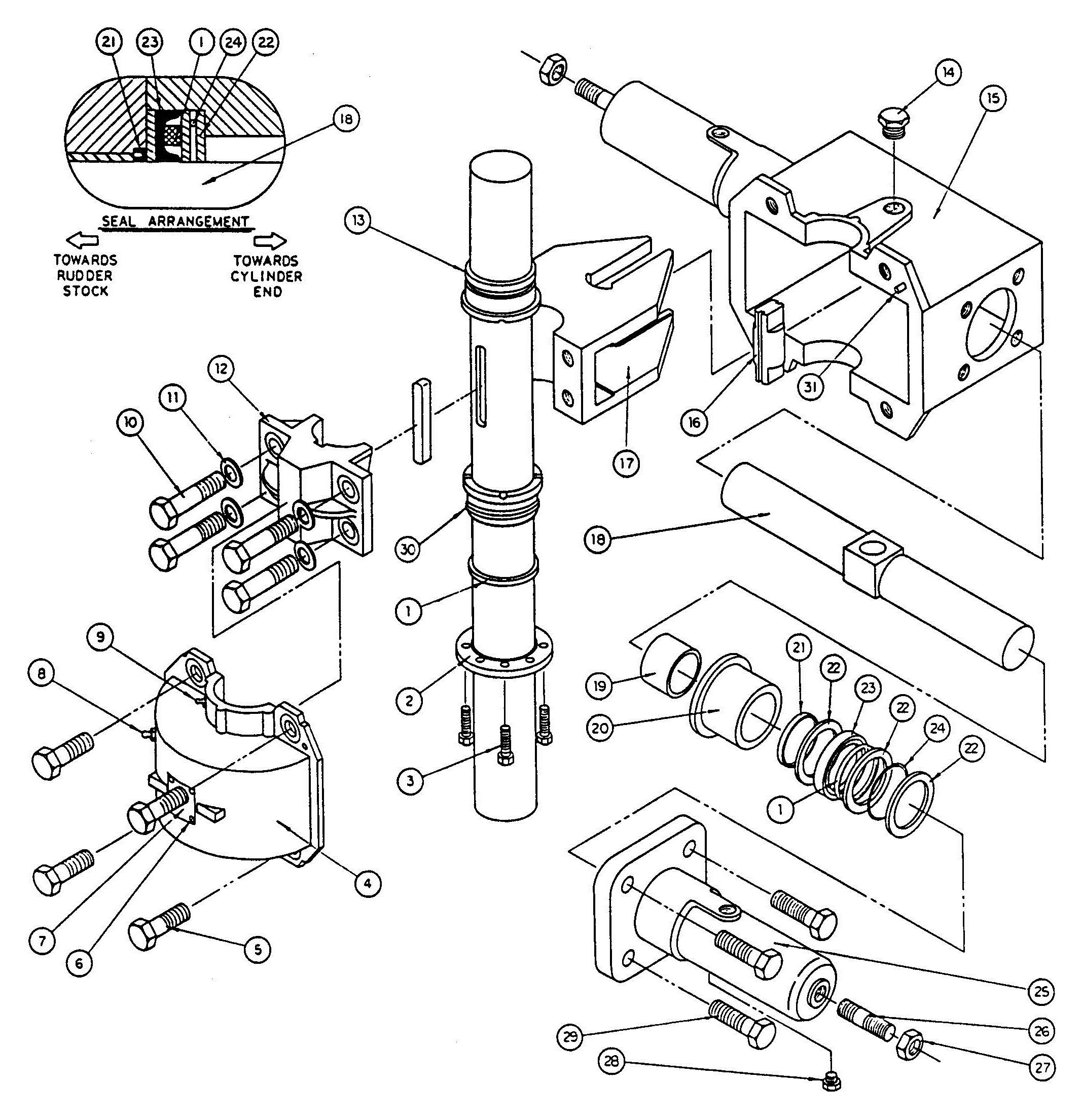 Model T5 Actuator Assembly Diagram