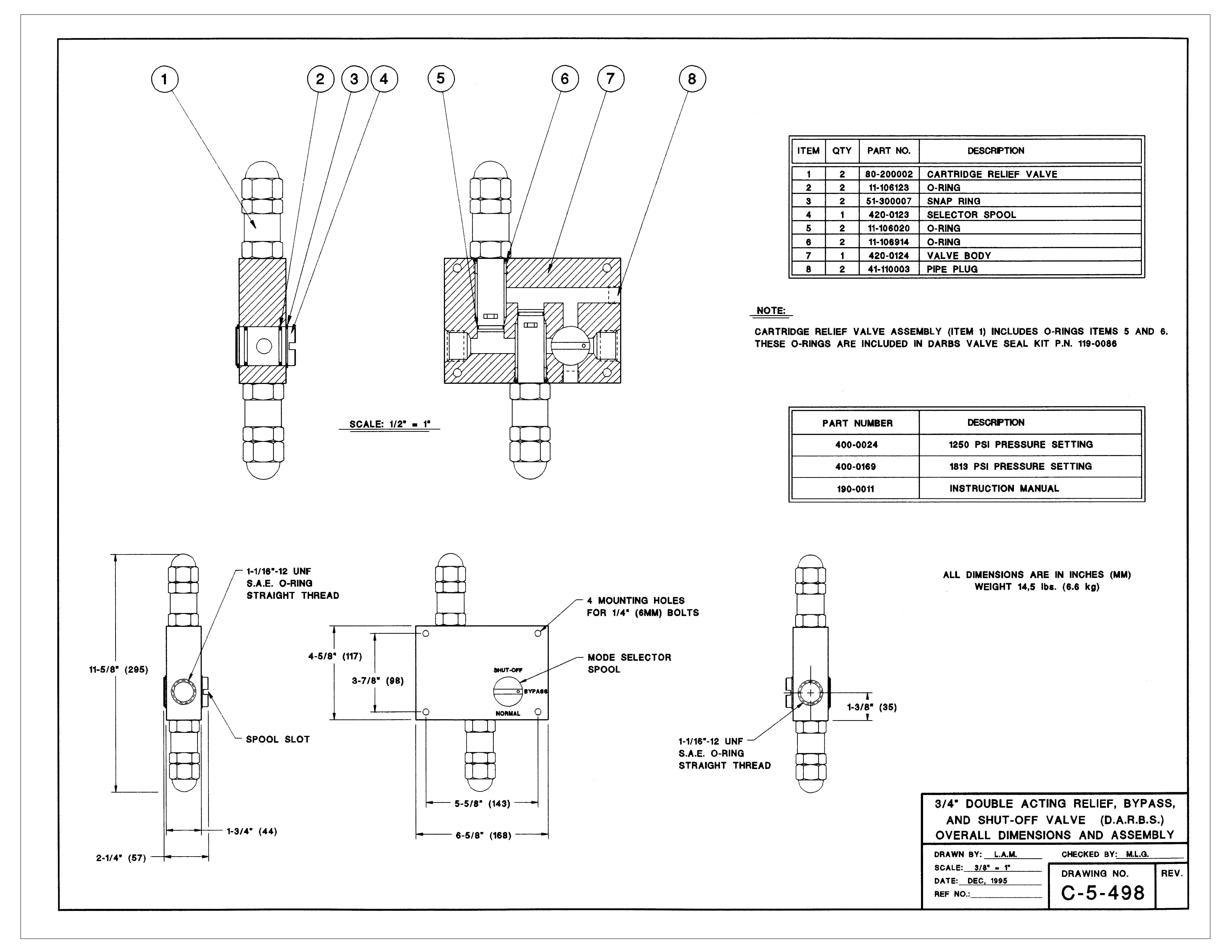DARBS Valve Assembly Diagram