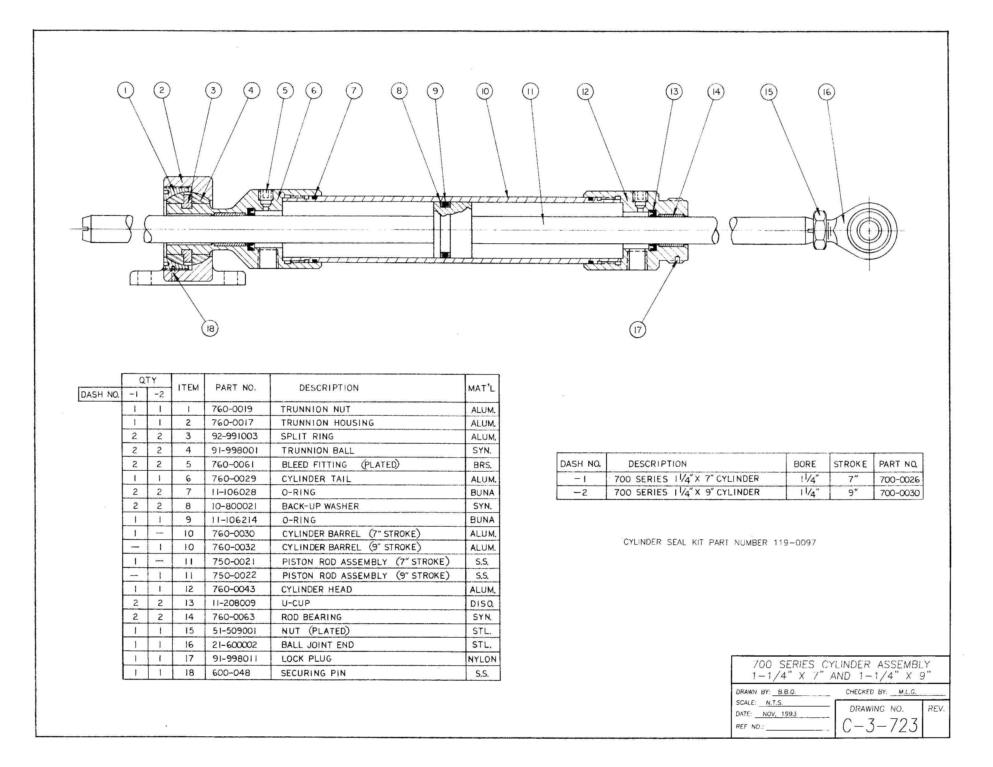 700 Series Assembly Diagram